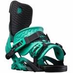 Flow Womens Omni Fusion Snowboard Binding-Turquoise-M