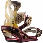 Flux GS Snowboard Binding Womens-Burgundy-XS