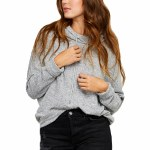 Gentle Fawn Womens Verse Hoodie-Heather Grey-XS