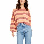 Gentle Fawn Womens Alden Crew Sweatshirt-Canyon Stripe-XS