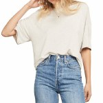 Gentle Fawn Womens Elm Short Sleeve Top-Heather Taupe-XS
