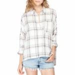 Gentle Fawn Tempt Long Sleeve Shirt Womens-Sierra Plaid-S
