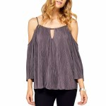 Gentle Fawn Candice Top Womens-Grey Orchid-XS