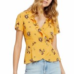 Gentle Fawn Alessia Short Sleeve Top Womens-Apricot Posy-XS