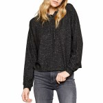 Gentle Fawn Warren Pullover Sweater Womens-Heather Black-S