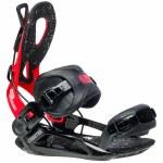 Gnu Mens Cheeter Snowboard Binding-Red-L