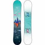 Gnu Womens Asym Velvet C2 Snowboard-Assorted-143