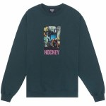 Hockey Skateboards Mens Baghead 2 Crew Sweatshirt-Dark Green-XL