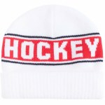 Hockey Skateboards  Striped Beanie-White-OS