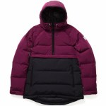 Holden Side Zip Puffer Jacket Womens-Sangria/Black-S