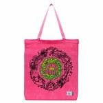 Herschel  Long Tote Messenger Bag-Slime Balls/Hot Pink-3.5L