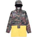 Herschel Forecast Parka Jacket Womens-Woodland Camo/Cyber Yellow-L