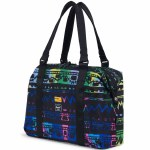 Herschel Hoffman California Fabrics Strand Duffle-Zig Zag Blue/Green-28.5L