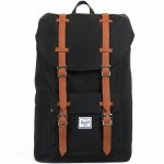 Herschel Classics Little America Mid-Volume Backpack-Black/Tan-17L
