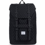 Herschel Classics Little America Mid-Volume Backpack-Black Gridlock/Black-17L
