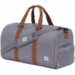 Herschel Classics Novel Mid-Volume Duffle-Grey/Tan-34.5L