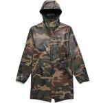 Herschel Rainwear Fishtail Parka-Woodland Camo-XL