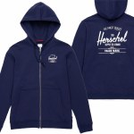 Herschel Full Zip Hoody-Peacoat/White-S