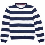 Herschel Crew Neck-Border Stripe/Peacoat Rib-L