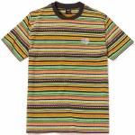 HUF Mens Topanga Knit Short Sleeve T-Shirt-Poppy-S