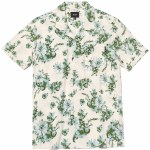 HUF Mens Dazy Resort Short Sleeve Button-Up-Unbleached-S