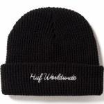 HUF World Wide Waffle Knit Beanie-Black-OS