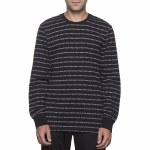 Huf Fuck It Jacquard Long Sleeve Tee-Black-M