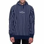 HUF Sutter Stripe Pullover Hoody-Midnight-M