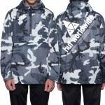 HUF Peak Anorak Jacket-White/Camo-L