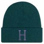 HUF Mens Classic H Beanie-Botanical Green-OS