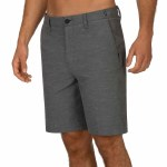 Hurley Mens Phantom Response 20 Short-Dark Smoke Grey-30