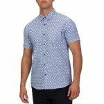 Hurley Mens Osaka Short Sleeve Top-Lt Armory Blue-L