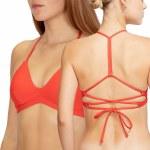 Hurley Womens Adjustable Surf Top Bikini-Speed Red-M