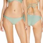 Hurley Womens Mod Surf Bottom Bikini-Silver Pine-S