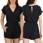 Hurley Womens Coastal Romper Dress-Black-S
