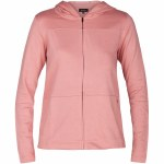 Hurley One & Only Top Fleece Zip Hoody Womens-Rust Pink-S