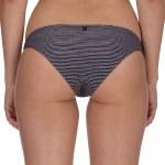 Hurley Quick Dry Micro Stripe Surf Bottom Bikini-Black-S
