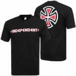 Independent Bar Cross Short Sleeve T Shirt-Black-L