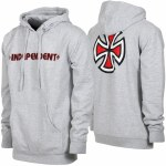 Independent Bar Cross Hoody-Grey Heather-M