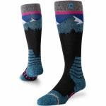 Stance Womens Ridge Line Sock-Black-M