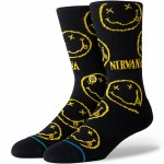 Stance Mens Face Sock-Black-S