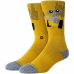 Stance Mens Wall E Sock-Orange-M