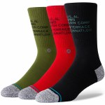 Stance Mens Life Corp 3 Of a Kind Sock-Multi-M