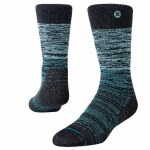 Stance Mens Agate Crew Sock-Teal-S