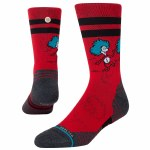Stance Mens Cat in The Hat Sock-Red-M