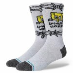 Stance Mens Bob Was Here Sock-Heather Grey-L