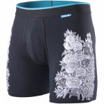 Stance Combed Cotton Rose Bud Underwear-Black-S