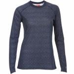Kombi Body 2 Merino Wool Pattern Top Womens-Black Iris Micro Dot-L