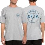 Krew Classic Seal Regular Short Sleeve T Shirt-Grey Heather-XL