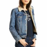 Levi's Original Sherpa Trucker Denim Jacket Womens-Extremely Lovable-L